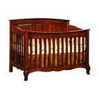 Chelsea Home Furniture - Chelsea Home Lincolnshire Crib in Amber - As children go through stages as they grow, so should their furniture. The Lincolnshire Convertible Crib Set in Brown Maple solid wood and Amber finish, is a 3-stage bed system that is constructed with quality and durability to transition any newborn into adulthood with elegance. The crib comes with paneled backboard detail and curved embellishment at the base and feet. This CPSC 16 CFR 1219 and 1220 compliant convertible piece is complete with guard rail and 3-level mattress support, and simple transition instructions to keep your child resting easy and comfortable. Chelsea Home Furniture proudly offers handcrafted American made heirloom quality furniture, custom made for you. What makes heirloom quality furniture? It's knowing how to turn a house into a home. It's clean lines, ingenuity and impeccable construction derived from solid woods, not veneers or printed finishes over composites or wood products _ the best nature has to offer. It's creating memories. It's ensuring the furniture you buy today will still be the same 100 years from now! Every piece of furniture in our collection is built by expert furniture artisans with a standard of superiority that is unmatched by mass-produced composite materials imported from Asia or produced domestically. This rare standard is evident through our use of the finest materials available, such as locally grown hardwoods of many varieties, and pine, which make our products durable and long lasting. Many pieces are signed by the craftsman that produces them, as these artisans are proud of the work they do! These American made pieces are built with mastery, using mortise-and-tenon joints that have been used by woodworkers for thousands of years. In addition, our craftsmen use tongue-in-groove construction, and screws instead of nails during assembly and dovetailing _both painstaking techniques that are hard to come by in today's marketplace. And with a wide arr