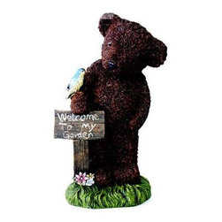 Kelkay - Welcome Bear - Kelkay Teddy Bears are the ideal gift! Made from durable resin-stone  designed for booth indoor and outdoor use  they will look great around the home or garden. Exclusively designed by Kelkay with great detail and realism.  This item cannot be shipped to APO/FPO addresses. Please accept our apologies.