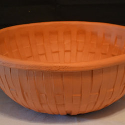Rare Vintage Bennington Potters Basket Weave Terracotta Pottery Bo - Rustic Country Collections