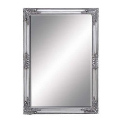 """Benzara - Beveled Mirror with Baroque Style Leaf and Floral Accents - Beveled Mirror with Baroque Style Leaf and Floral Accents. Stylish and attractive, this Framed Beveled Mirror flaunts a charming design which will enhance the appeal of any room. It comes with following dimensions 28""""W x 1""""D x 40""""H."""