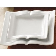 Contemporary Dinner Plates Products I Love / Goldbook Square Book Plate 8.5 X 8.5 $161.