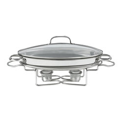"Cuisinart - Cuisinart Stainless Steel 13 1/2"" Oval Buffet Server - 2 tea light candles provide the heat to keep food at proper serving temperatures"