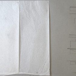 """""""Language Study (Hindi)"""" Artwork - Graphite and vellum on paper  This is one of the language studies that I do. The letters are in Hindi, and they are encrypted with the numerical code in the bottom right-hand corner."""