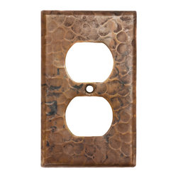 Premier Copper Products - Switchplate Single Duplex,2 Hole Outlet Cover - Copper Switchplate Single Duplex, 2 Hole Outlet Cover