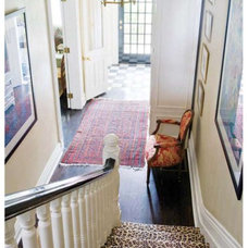 eclectic  Entryway staircase (via Feb Style@Home)
