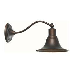 World Imports - Dark Sky Kingston 8in. Outdoor 1-Light Lantern, Antique Copper - 1-100 Watt medium bulb