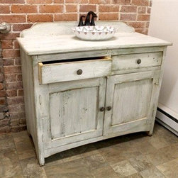White Bathroom Vanity From Reclaimed Wood - Made by http://www.ecustomfinishes.com
