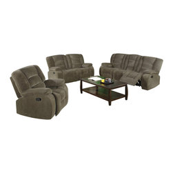 Coaster - Coaster Charlie Motion 3 Piece Reclining Sofa Set - Coaster - Sofa Sets - 60099192933PKG
