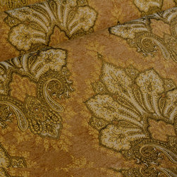 Isadora Upholstery in Tawny - Isadora Upholstery Fabric in Tawny Brown.  A Discounted Designer Fabric in a classic damask pattern.  Uses: reupholstering furniture, bedding, drapery, pillows.