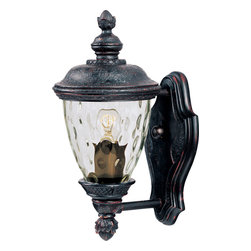 Carriage House VX-Outdoor Wall Mount - Maxim Lighting's Carriage House VX Collection is made with Vivex, a material twice the strength of resin, is non-corrosive, UV resistant and backed with a 3-Year Limited Warranty. Carriage House VX features our Oriental Bronze finish and Water Glass.