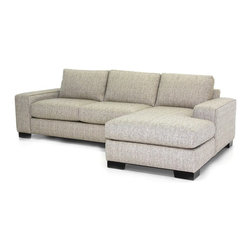 Apt2B - Melrose 2PC Sectional Sofa, Straw, 107x65x28, Chaise on Right - You've got to love the flexibility a two-piece sectional provides. Combine the pieces for a chic space to spread out, or set each piece up separately for countless seating options. Either way, you'll be kicking back in comfort and style with this custom sofa.