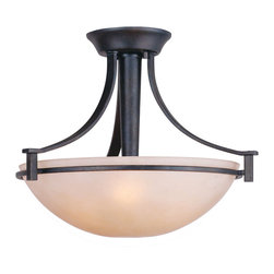 Golden Lighting - Hampden Convertible Semiflush Light - You have the right to change your mind. Whether you hang it close to the ceiling or drop it down by a chain as a chandelier, this convertible semiflush lighting fixture gives you the flexibility to achieve just the right look.