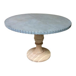 Zinc Dining Tables, Coffee Table, Tops, Countertops - Custom Size Available. Visit www.kingstonkrafts.com