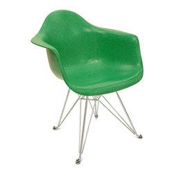 Fiberglass Shell Chair - Arm Shell Eiffel Base - Dimensions: