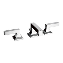 Toto - Toto TL930DDLQ Polished Chrome Lloyd Widespread Lavatory Faucet - This Toto TL930DDLQ#CP two lever handle widespread lavatory faucet is from the Lloyd Collection of Toto USA Faucets. It's contemporary design adds a bold, modern style to any bathroom, and it comes in a Polished Chrome finish.