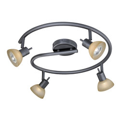 Vaxcel - Vaxcel 4L Spiral Rod Spot Light - 4L Spiral Rod Spot Light Dark Bronze