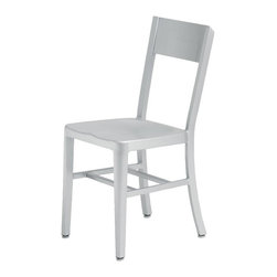Nuevo Living - Tribecca Aluminum Dining Chair - Indoor or Outdoor by Nuevo - The sophisticated and gorgeous Tribecca Modern Chair is truly a multi-purpose dining chair, suitable for indoor & outdoor and for use in a multitude of environments. This chair was inspired by the designs that were created for the US Navy in 1940's. It features box aluminum frame construction with welded joints and
