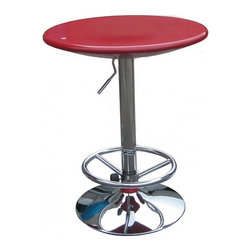 Boraam - Boraam Luna Adjustable Pub Table in Red - Boraam - Pub Tables - 99231