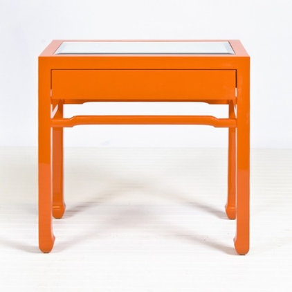 Contemporary Side Tables And End Tables Nightright Orange Side Table