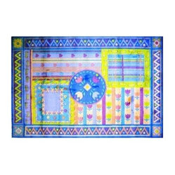 Fun Rugs Supreme TSC-056 Tulip Quilt Blue Area Rug - Multicolor
