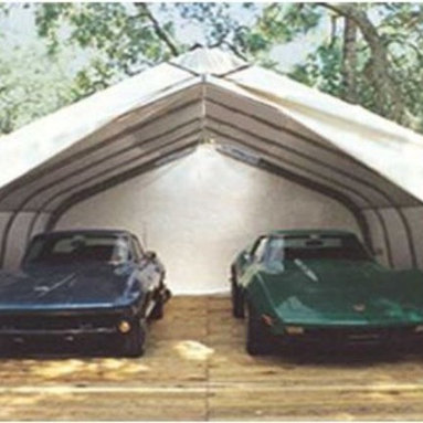 20 x 22 Double Vehicle Canopy Carport - 78431 - Shop for Sheds