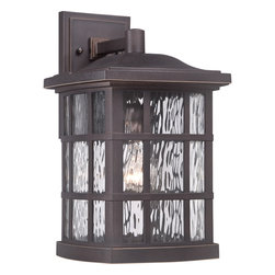Cambridge - Stonington 1-light Palladian Bronze Large Wall Lantern - The Stonington collection large wall lantern features a palladian bronze finish that is completed by its clear water glass shade,which adds visual interest and depth. This versatile outdoor lighting fixture pairs well with many color schemes.