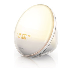 Philips HF3520 Wake-Up Light With Colored Sunrise Simulation, White - I am a huge believer in waking up to natural sunlight, but if your alarm sounds long before the sun rises, try this little trick: a gradually brightening light that simulates the sunrise. Now that's a bright idea!