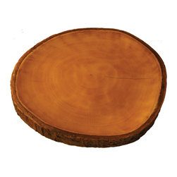 Be Home - Mango Wood Platter With Bark - Now you can serve something special — every single day — and feel good about it too. This platter can be yours through the natural process of harvesting for replanting, which makes mango wood a fully sustainable resource.