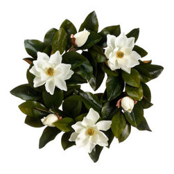 Silk Plants Direct - Silk Plants Direct Magnolia Wreath (Pack of 2) - Pack of 2. Silk Plants Direct specializes in manufacturing, design and supply of the most life-like, premium quality artificial plants, trees, flowers, arrangements, topiaries and containers for home, office and commercial use. Our Magnolia Wreath includes the following: