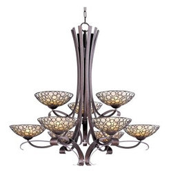 Maxim Lighting - Maxim Lighting 21346DWUB Meridian 9-Light Chandelier In Umber Bronze - Features