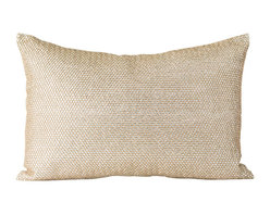 Pyra & Co - Brava Pillow, 14x20 - Bezel-like setting, each crystal-like stone is meticulously wrapped by-hand in gold bullion; creating a chain-mail design. Due to the handmade nature of each product, pieces may vary slightly and have imperfections.  These are elements that showcase the true beauty of truly being crafted-by-hand.