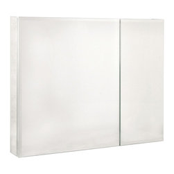 Pegasus - Bi-View Beveled Mirror 36 in. Medicine Cabine - Manufacturer SKU: SP4587. Includes side mirror and hanging kit. Adjustable glass shelves. Rust-free aluminum case. Self-closing hinges open upto 110 degree. Recess or surface mount. 36 in. W x 5 in. D x 30 in. H (57.64 lbs.)