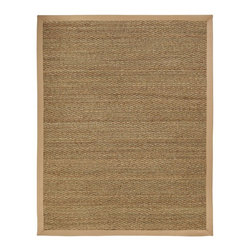 Anji Mountain - Natural Fiber Seagrass 5'x8' Rectangle Beige Area Rug - The Seagrass area rug Collection offers an affordable assortment of Natural Fiber stylings. Seagrass features a blend of natural Beige color. Machine Made of Seagrass the Seagrass Collection is an intriguing compliment to any decor.