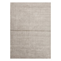 Jaipur - Solid/Striped Basis 5'x8' Rectangle Classic Gray-Classic Gray Area Rug - The Basis area rug Collection offers an affordable assortment of Solid/Striped stylings. Basis features a blend of natural White-White color. Handmade of Wool & Art Silk the Basis Collection is an intriguing compliment to any decor.