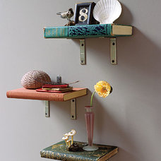 eclectic accessories and decor Book Shelves.