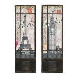 BZBZ55973 - Wall Art Decor with London and Paris Tourist Destinations - Wall Art Decor with London and Paris Tourist Destinations. Why not enjoy your decor with reminders some of the most beautiful places in the world. We all love to travel, so why not enjoy these experiences between trips, from your own home.