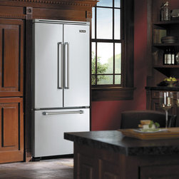 """Viking Professional Series VCFF236SS  36"""" French-Door Bottom-Mount Refrigerator/ - 36"""" French-Door Bottom-Mount Refrigerator/Freezer with 19.6 Cu. Ft. Capacity, MeatSavor™/Produce Drawer, Electronic Controls, and Adaptive Defrost"""