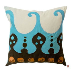 """Koko Coptic Pillow 22"""" x 22"""" - The Coptic Pillows reveal secrets from an old Egyptian textile tradition. Relax. All products by The Koko Company reflect their love for natural fabrics."""