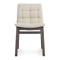 Blu Dot - Blu Dot Wicket Side Chair, Sand - Wicket good. A removable tufted cushion is cradled by a solid wood frame to create a pillow like seating experience. As attractive from the back as it is from the front, a notched cutout at the top of the chair makes moving it around a cinch.