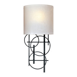 George Kovacs - George Kovacs 1-Light Wall Sconce - Watch your wall decor take shape with the addition of this cool geometric sconce. Designed by George Kovacs with three black-finished overlapping circles, it's a captivating take on contemporary lighting.