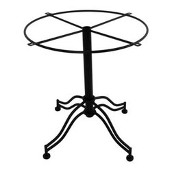 """Meadowcraft - Meadowcraft Pedestal Table Base - Meadowcraft is a leading domestic manufacturer of quality wrought iron furniture and cushions located in Wadley Alabama.  With traditional and post war modern styles utilizing subtle understated designs Meadowcraft furniture is an excellent addition to any home. Whether choosing the deep seating comfort of a cushioned loveseat or the comfortable durability of a commercial grade mesh bistro chair you are invited to relax in all of Meadowcrafts products.  Meadowcraft takes the """"made in the U.S.A."""" label seriously and strives to exceed its perceived responsibilities to their customers and community.  Features include Made of extremely durable wrought iron material Hand formed by skilled craftsmen to insure the strongest furniture in the industry Offered in wide selection of powder coated finishes manufactured to prevent rust Round slick shape."""