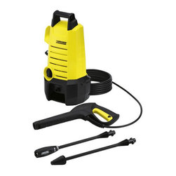 Karcher - Electric Pressure Washer K2 150 1500 Psi - The Karcher K2.150 1500PSI Electric pressure washer. This lightweight, compact electric pressure washer delivers up to 30 times as much pressure as your garden hose. Simply dial up the right amount of pressure for the job. For more intense cleaning, attach our patented DirtBlaster spray wand, which increases the effective pressure by up to 50-Percent. Weighing in under 13-pound with a small footprint, this pressure washer is an ideal choice for those place a premium on light carrying weight and minimal storage requirements