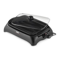 """Delonghi - De'Longhi Perfecto Indoor Grill - Grill all year long with this 1500-watt indoor grill. Extra large 16"""" x 12"""" cooking surface accommodates meals for the whole family, and the removable non-stick cooking surface and drip tray make clean up a breeze."""