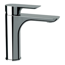 Remer - Single Lever Chrome Bathroom Sink Faucet - This sleek single bathroom sink faucet is made of brass in a chrome finish.