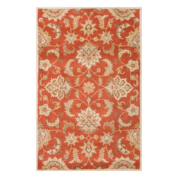 Jaipur Rugs - Hand-Tufted Durable Wool Red/Gray Area Rug (2.6 x 4) - Sublime hues and graceful lines accentuate the traditional pattern motifs in Mythos, an elegant and value-driven range of durable, hand-tufted area rugs. This sophisticated collection is for the discriminating consumer with a passion for traditional design, at prices that answer every budget. The Mythos Collection is tradition, redefined.