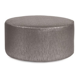 Howard Elliott - Glam Zinc Universal 36 Round Cover - Does your Universal 36 round need an update? Do so by simply getting a new cover. Velcro fasteners and tailored design make it so you would never know this piece is slipcovered. Cleaning and updating is a breeze, change your look on a whim with new covers!