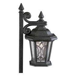 Progress Lighting - Progress Lighting Cranbrook Die Cast Low Voltage Garden Lantern X-17-6725P - 12-volt die cast path light with Tiffany art glass.