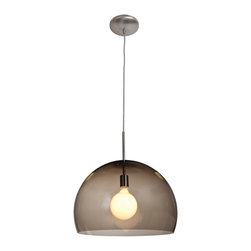 Joshua Marshal - Smoked Acrylic Acrolite 1 Light Pendant - Smoked Acrylic Acrolite 1 Light Pendant