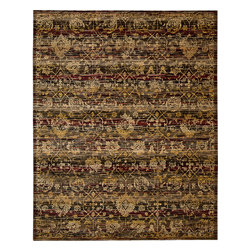 """Nourison - Nourison Rhapsody RH007 (Ebony) 8'6"""" x 11'6"""" Rug - The Rhapsody collection is a modern mix of European and Persian textile traditions in lively, sophisticated patterns and colors."""