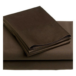 WestPoint Home LLC - 4 Piece Chocolate Brown California King Bedding Sheet Set - Features: